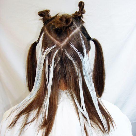 آموزش تقسیم بندی مو برای رنگ کردن