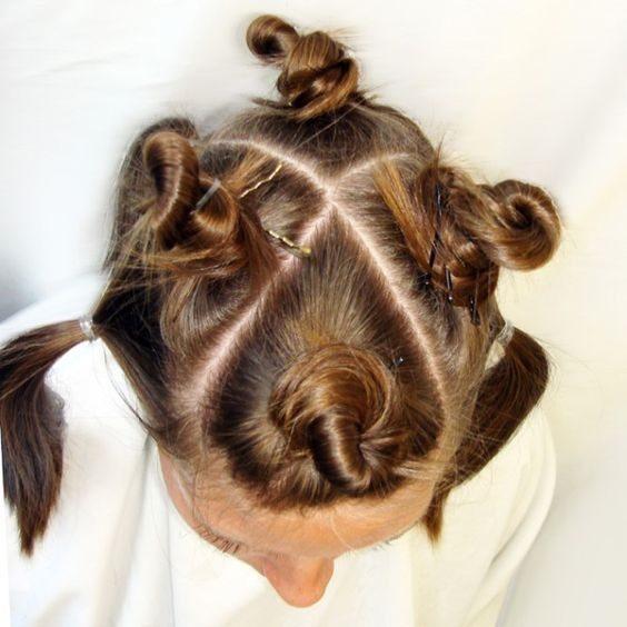 تقسیم بندی مو برای رنگ، مش، هایلایت