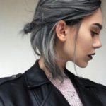 عکس رنگ موی دودی خاکستری تیره