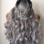 عکس رنگ موی دودی طلایی