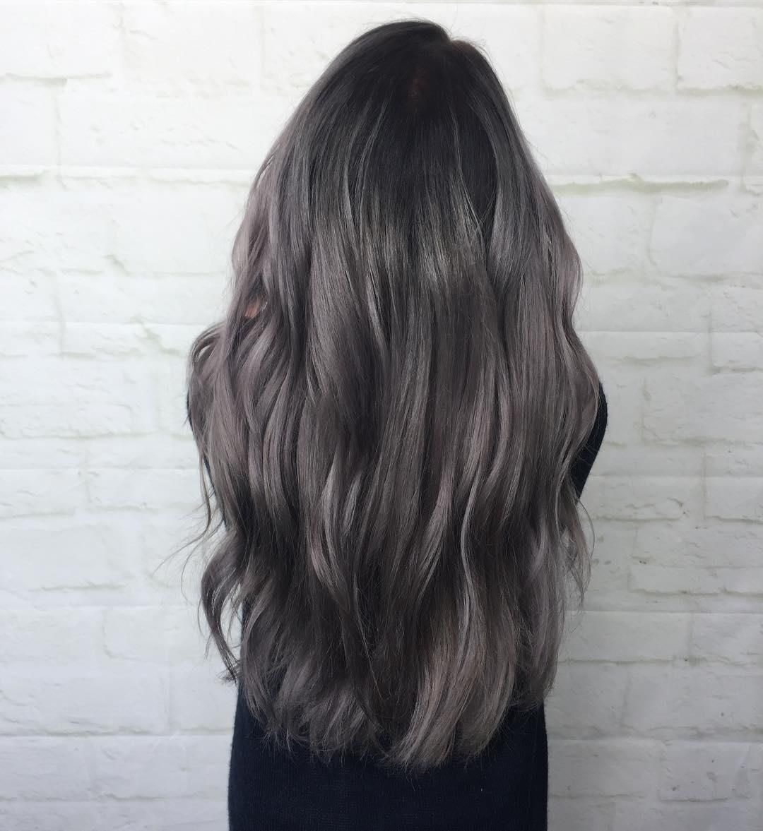 رنگ موی دودی نسکافه ای