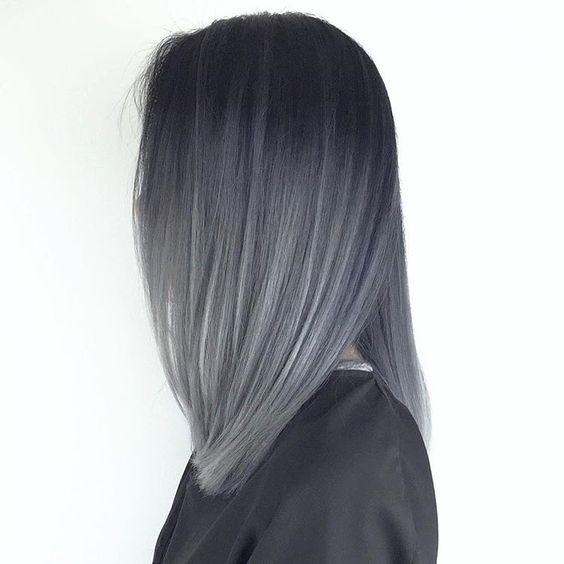 رنگ موی دودی با دکلره