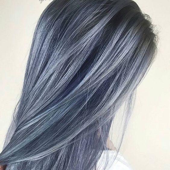 عکس مدل رنگ موی دودی خاکستری
