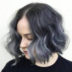 عکس رنگ مو دودی خاکستری تیره