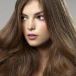 عکس رنگ موی نسکافه ای زیتونی