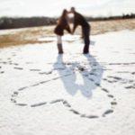 عکس قلب با برف برای پروفایل عاشقانه