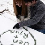 عکس دو نفره با قلب برفی برای پروفایل