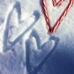 عکس قلب روی برف برای پروفایل