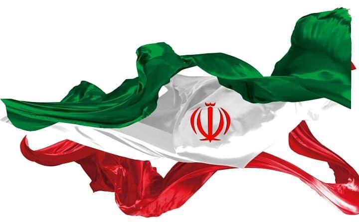 عکس پرچم ایران با زمینه سفید مناسب طراحی گرافیکی