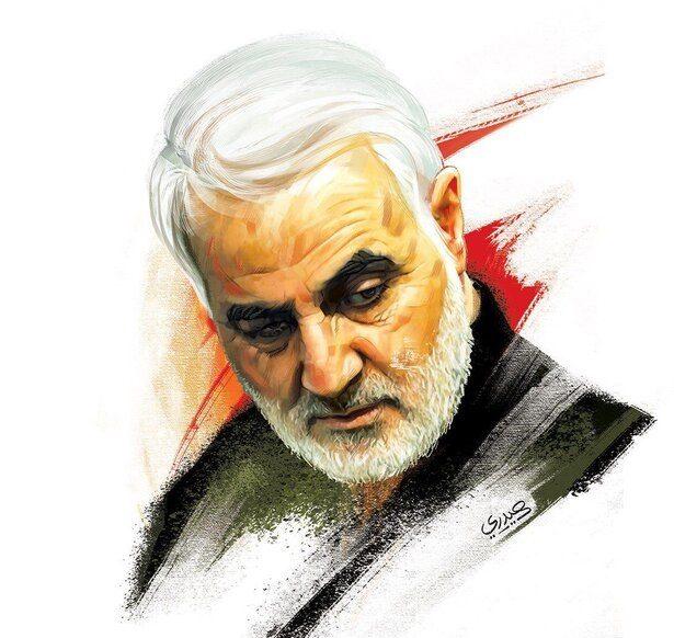 نقاشی سردار قاسم سلیمانی