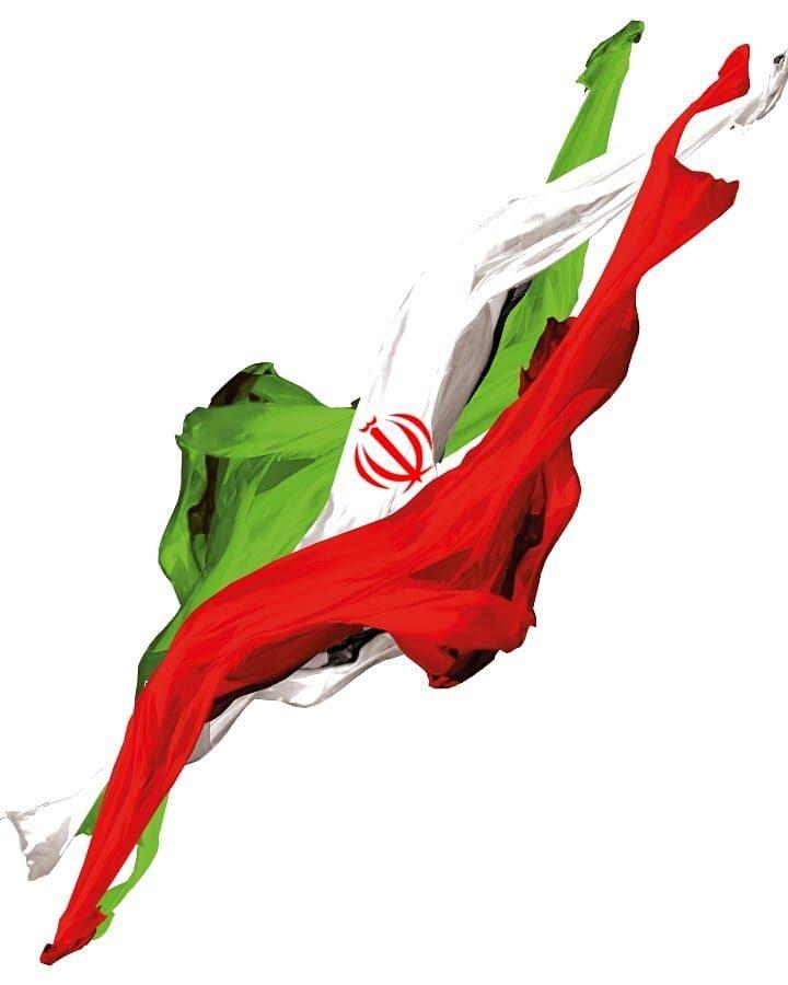 عکس هنری پرچم ایران برای طراحی