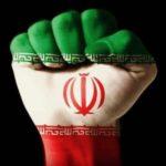 عکس پرچم ایران با مشت گره شده