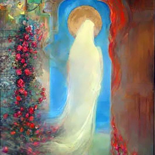 نقاشی کودکانه از حضرت فاطمه زهرا