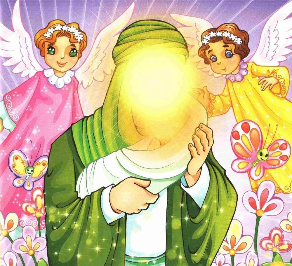 نقاشی حضرت فاطمه برای بچه ها