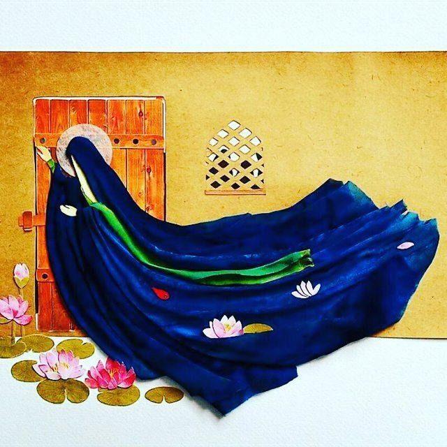 نقاشی حضرت زهرا برای حضرت فاطمه (س)