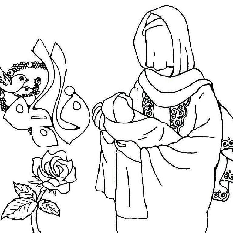 نقاشی به مناسبت ولادت حضرت فاطمه برای کودکان