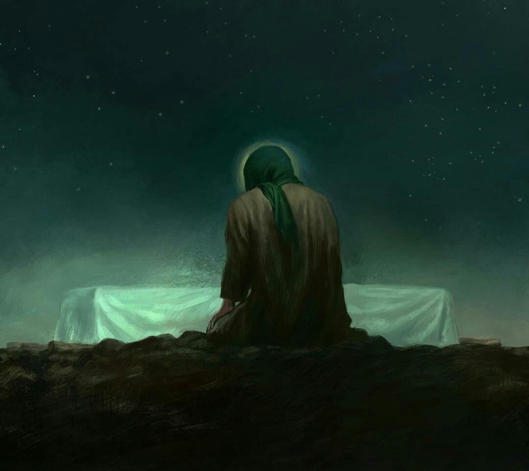 نقاشی حضرت فاطمه و حضرت علی