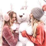 ژست عکس زمستانی دخترانه