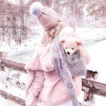 ژست عکس زمستانی دخترونه
