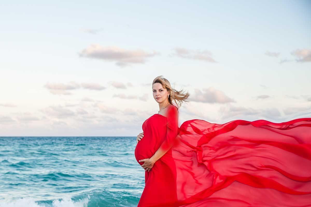 مدل عکس تکی بارداری در ساحل