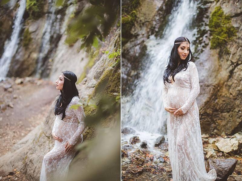 بهترین ژست عکس بارداری تکی در طبیعی