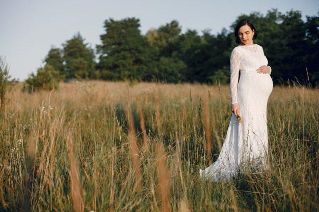 جدیدترین مدل عکس بارداری تکی در طبیعت