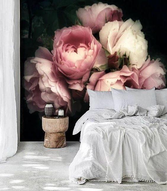 عکس کاغذ دیواری سه بعدی طرح گل