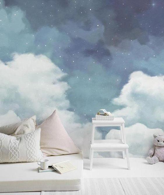 عکس کاغذ دیواری سه بعدی اتاق خواب