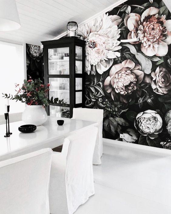 عکس کاغذ دیواری سه بعدی گل