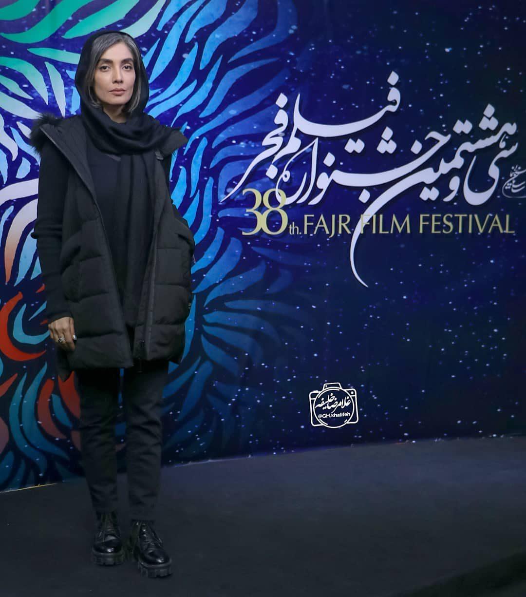 عکس لیلا زارع در اختتامیه جشنوراه فیلم فجر 98