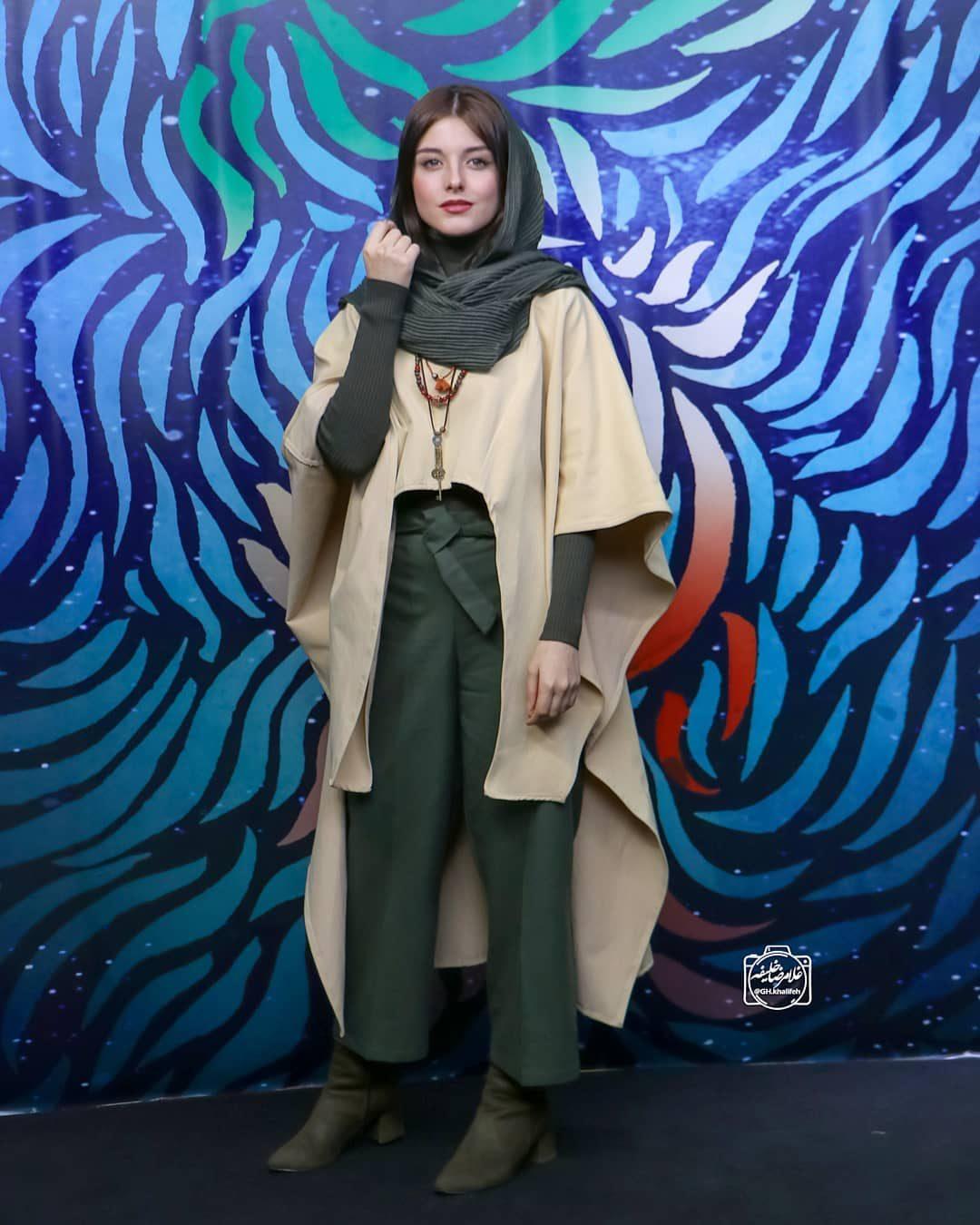 عکس فاطمه مسعودی فر در اختتامیه جشنوراه فیلم فجر 98