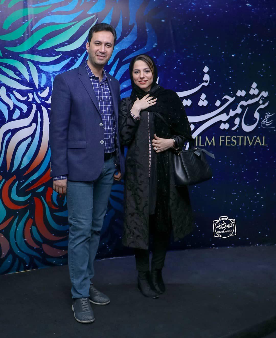 عکس محیا اسناوندی و همسر در اختتامیه جشنوراه فیلم فجر 98