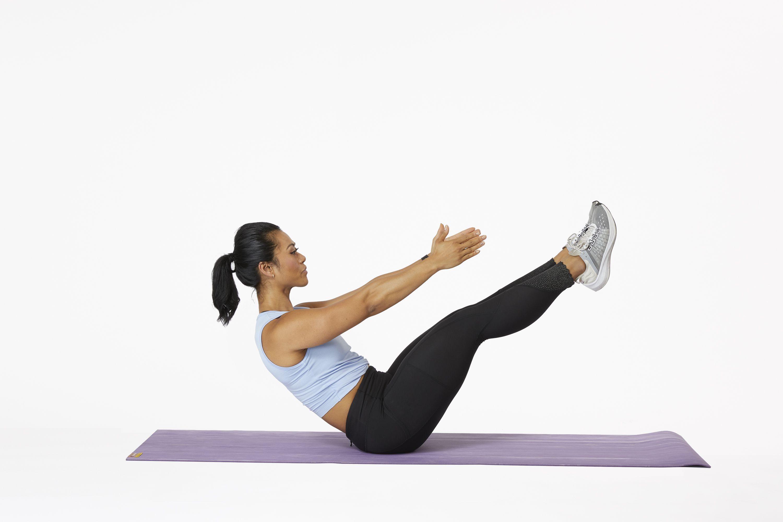 ورزش در خانه برای لاغری شکم و پهلو: تمرین V Crunches