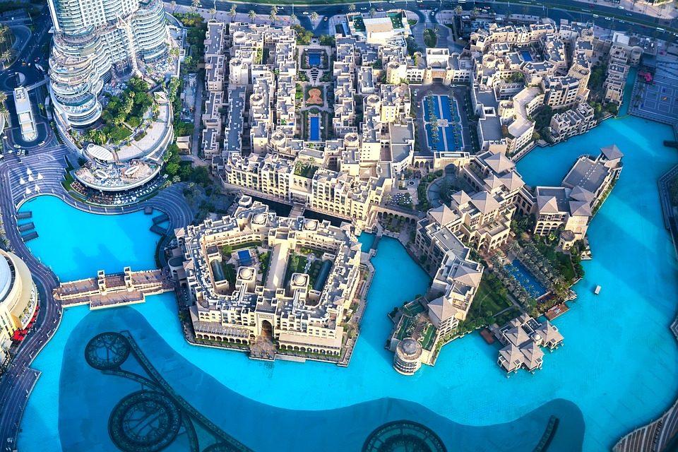 عکس هوایی از برج خلیفه