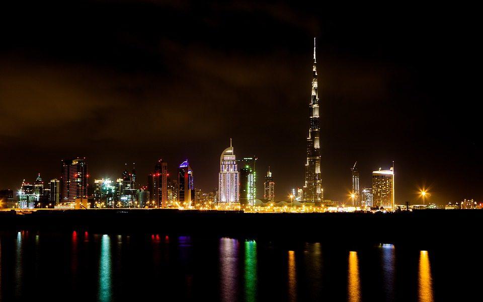 برج خلیفه نمای شب