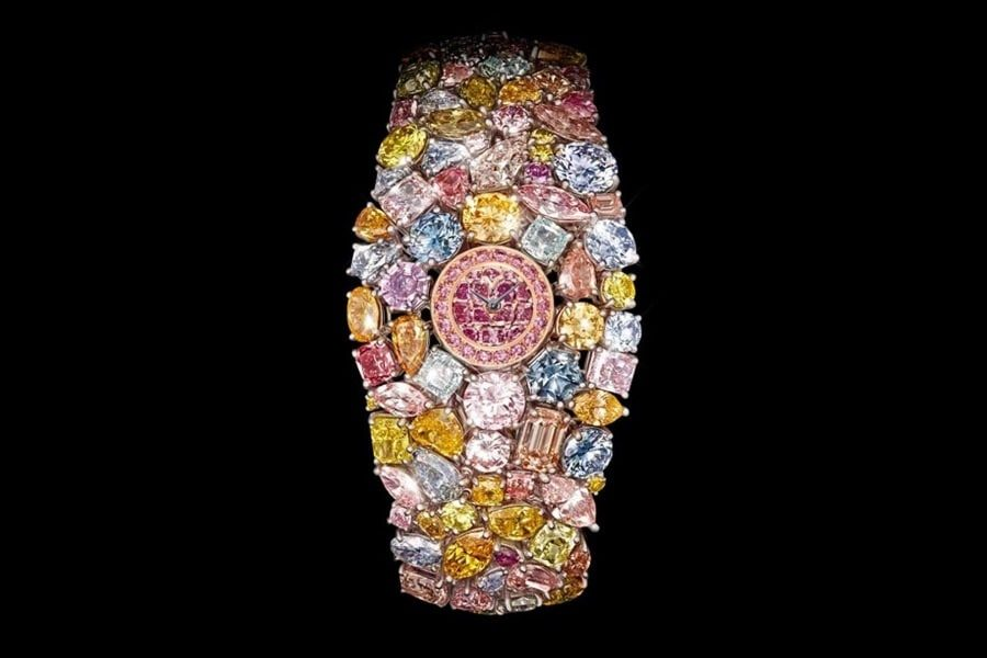 گران ترین ساعت مچی زنانه دنیا، ساعت 21 عیار chopard