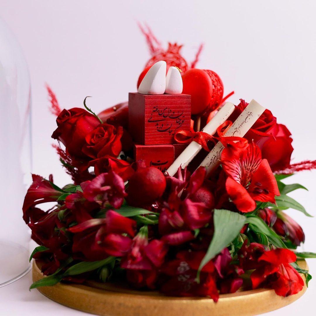 تم قرمز برای شب یلدا عروس
