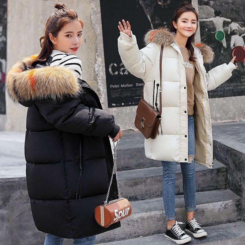 مدل کاپشن بلند دخترانه کره ای خزدار