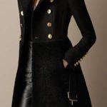 جدیدترین مدل پالتو زنانه کتی با فوتر