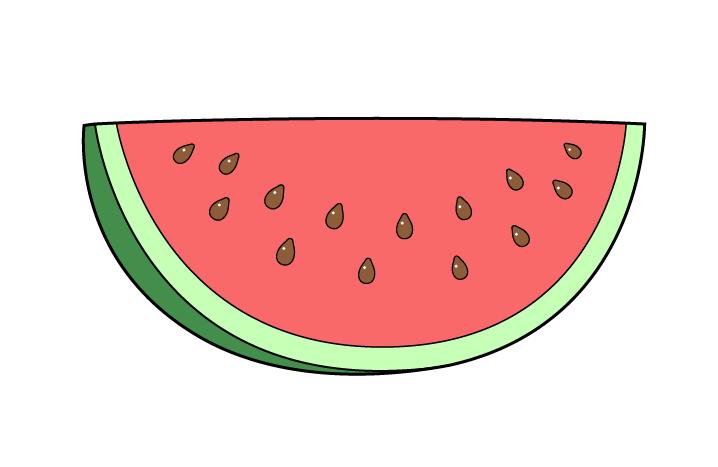 نقاشی هندوانه قاچ شده