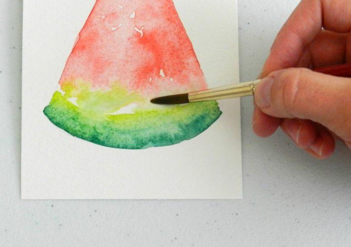 نقاشی هندوانه برای کودکان