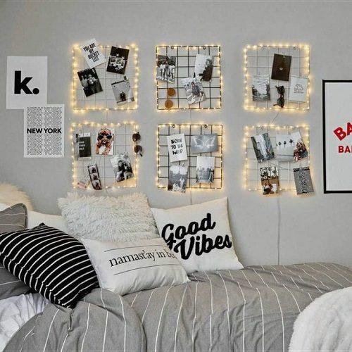 ایده تزئیین اتاق با عکس و ریسه