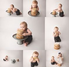 ژست عکس کودک با کیک تولد