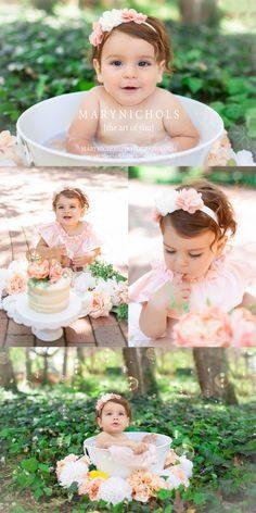 ژست عکس کودک تولد یک سالگی در طبیعت