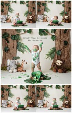 ژست خاص عکس کودک با کیک تولد