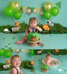 ژست عکس تولد کودک پسرانه جنگلی