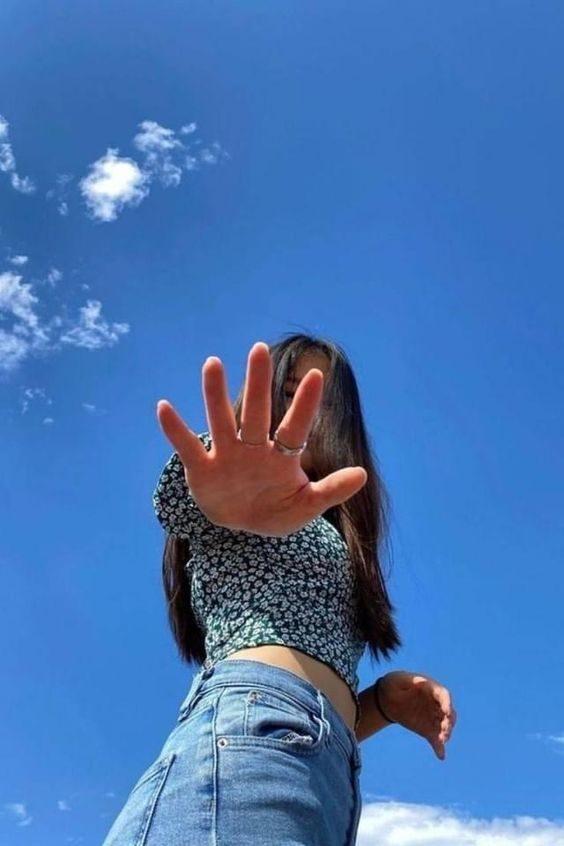 ژست عکاسی آسمان
