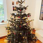 تزیین درخت کریسمس با وسایل ساده