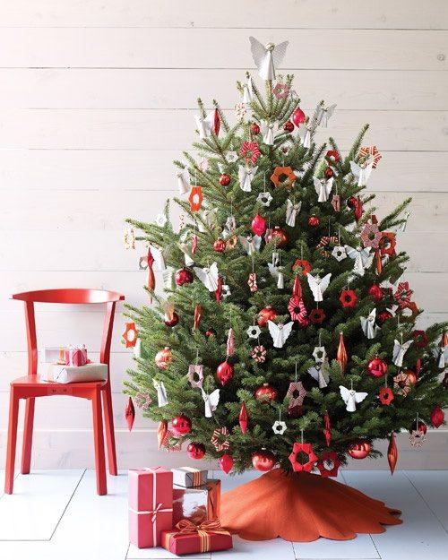 شیک ترین تزیین درخت کریسمس زیبا با وسایل ساده