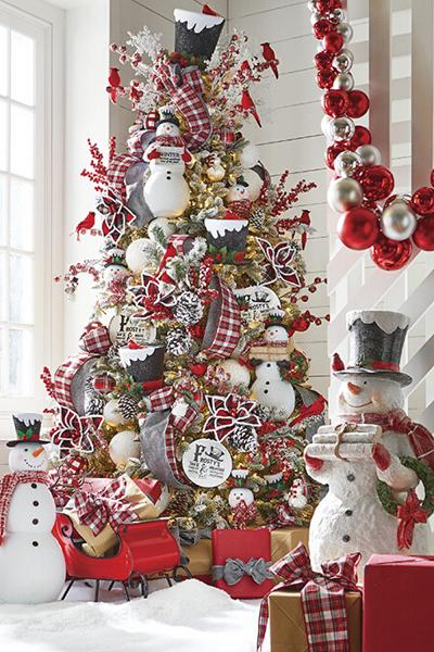 تزیین درخت کریسمس ساده و خاص
